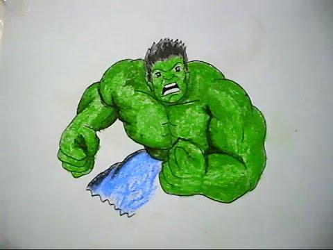 Cara Mewarnai Hulk How To Draw The Picture Of Hulk Youtube