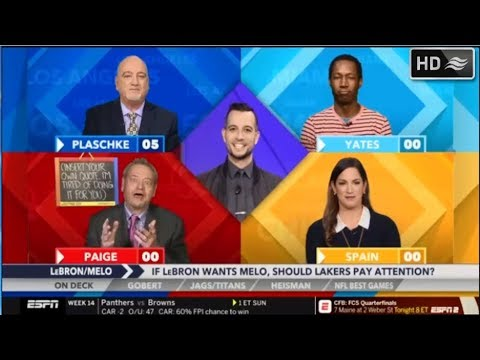 56d79b6707f7 Around The Horn 12.7.18 - Report  LeBron James wants Carmelo Anthony on the Los  Angeles Lakers