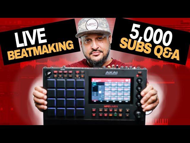 🔴Thank You! MPC Live 2 Sample Beatmaking & 5K Subs Q&A | Making a Lofi Beat