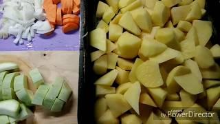 Курица с картошкой и кабачками