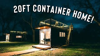 *tiny* 20ft Shipping Container Home! | Full Airbnb Tour!