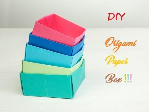 HOW TO MAKE ORIGAMI PAPER BOX | DIY | CRAZY CRAFT STUFFS