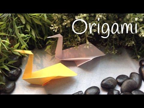 Origami fácil para niños de animales, un precioso cisne