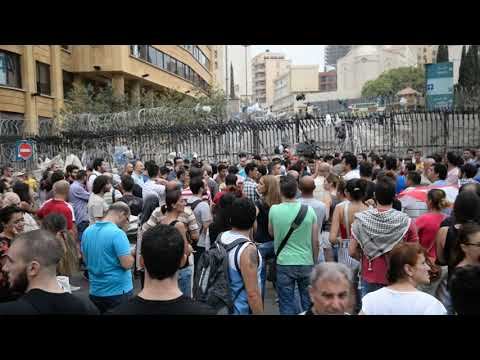 Lebanon Waste Crisis Demonstration 2015