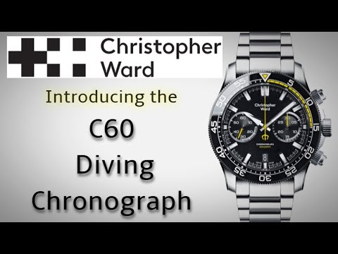 Introducing Christopher Ward C60 Trident Diver Chronograph New For 2020 Automatic Bicompax Chrono