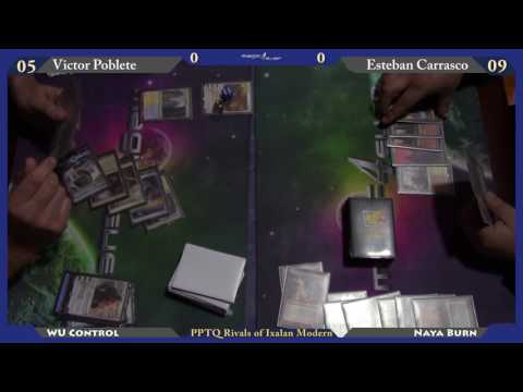 PPTQ Rivals of Ixalan - Modern Final - WU Control (Poblete) Vs Naya Burn (Carrasco)