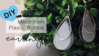 DIY Earrings from Plastic Bottle (Upcycled)