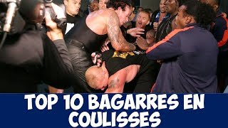 TOP 10 Bagarres en Coulisses WWE