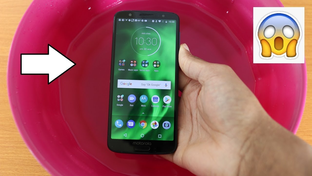 innovative design 713ea 0fae3 Moto G6 Water Test - Is It Water Resistant?