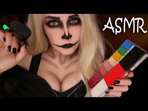 АСМР Макияж скелетика 👻 ASMR Makeup Skeleton On Halloween 🎃