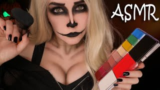 АСМР Макияж скелетика 👻 ASMR Makeup Skeleton on Halloween 🎃