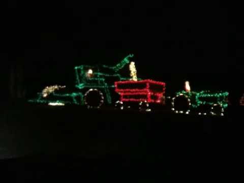 John Deere christmas lights - YouTube