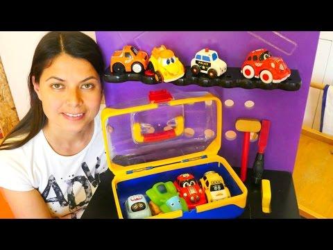 Aslı ile oyuncak kreşi! Arabalar renkler ve şekiller öğreniyor. 🚗🚕🚙#eğiticivideo