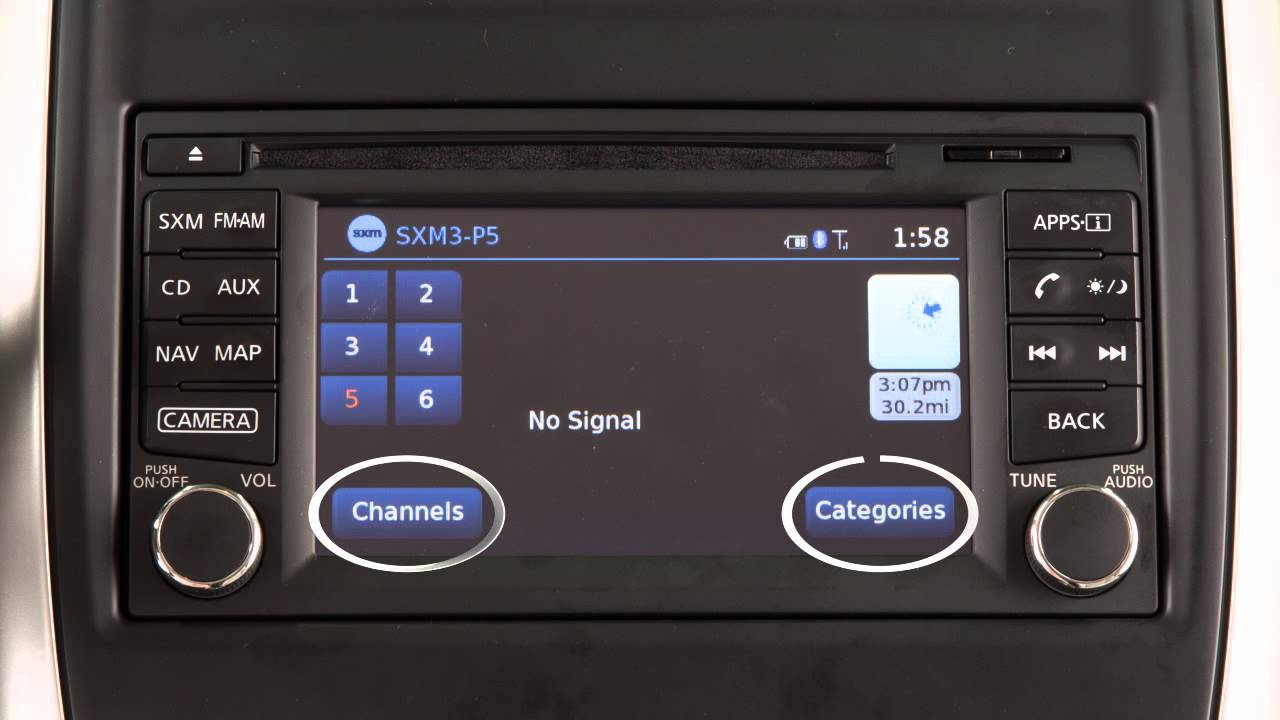 2015 Nissan Frontier Audio System With Navigation Youtube
