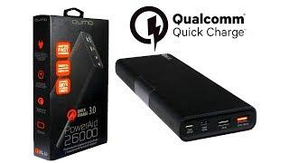 Внешние аккумуляторы с быстрой зарядкой QUMO PowerAid 26000 и 15600