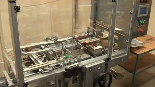 Marden Edwards S5LX100FF overwrapping tea bag boxes at 75 per minute