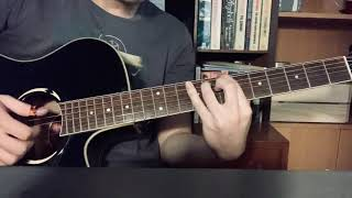 """How to play """"anything"""" (Adrianne Lenker) // tabs, tuning and picking pattern in description"""