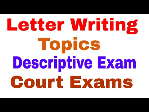 LETTER WRITING TOPICS FOR DISTT COURT