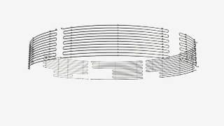 Внутренний регистр подогрева по первому поясу резервуара в 3D. ООО