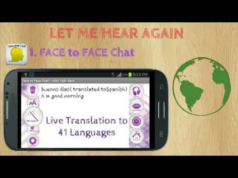 Face To Face Chat Tutorial