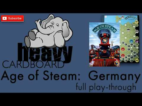 Age Of Steam: Germany 4p Play-through, Teaching, & Roundtable Discussion By Heavy Cardboard