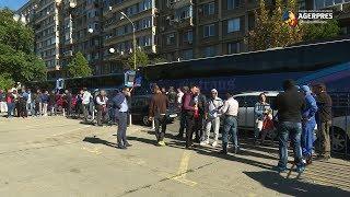 Transportatorii au protestat, miercuri, în faţa Ministerului Transporturilor