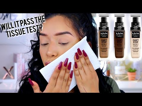 NEW! NYX CANT STOP WONT STOP FOUNDATION IS IT REALLY TRANSFER PROOF?!