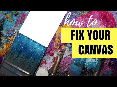 how-to-reuse-old-canvas-|-acrylic-art-tips-for-beginners