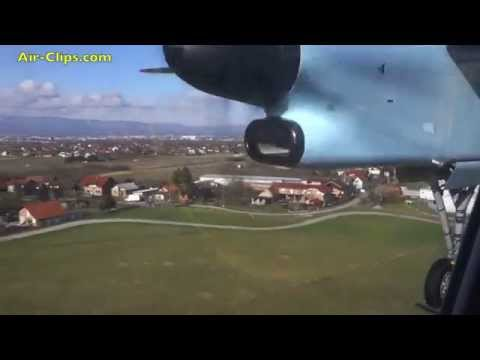 Austrian Airlines Dash 8 Q400 Vienna to Zagreb FANTASTIC! [AirClips full flight series]