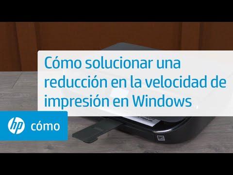 Cómo solucionar una reducción en la velocidad de impresión en Windows | Impresoras HP | @HPSupport
