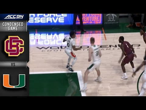 Bethune-Cookman vs. Miami Condensed Game | 2018-19 ACC Basketball
