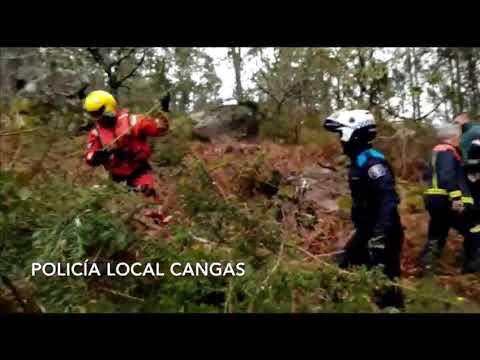 Encuentran herido al jinete desaparecido el viernes en Cangas