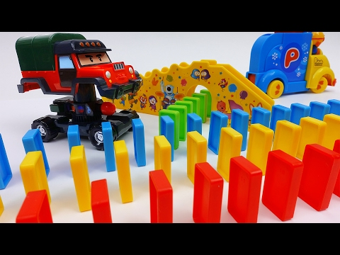 Thumbnail: Automatic Domino Laying Car Toy Pororo Domino Rally