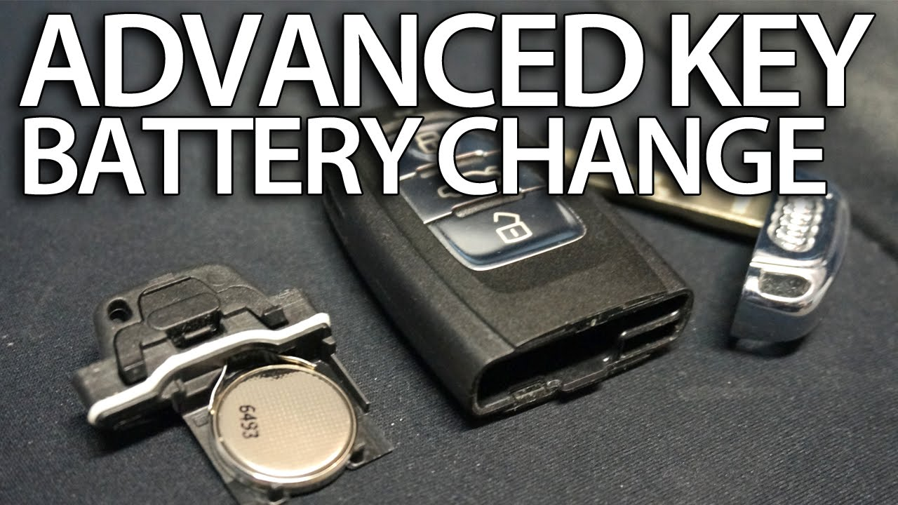 How to change battery in Audi Advanced Key remote (keyless A1 A3 A4 A5 A6 A7 A8 Q3 Q5 Q7) - YouTube