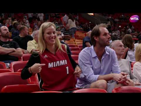 Angelique Kerber Goes to Miami Heat Game