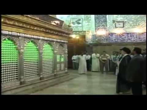 Very rare footage - Ayatollah Sayed Baqir al-Hakeem (ra) in Imam Ali Shrine