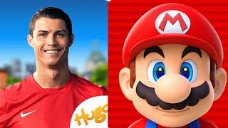 Gambar cover Fun kids video games Cristiano Ronaldo: Kick'n'Run vs Super Mario Run