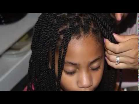 natural hair style tutorial yarn