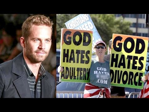 Paul Walker Burn In Hell - Westboro Baptist Church Picketing Funeral