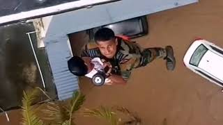Indian Air Force Saves Child at Kerala Flood Relief Operation REAL HERO
