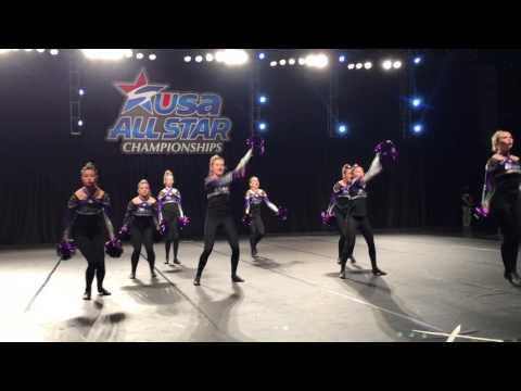 Jamie and Elite Team at 2017 USA ALL Star competition -POM