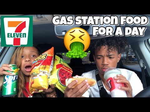 We Only Ate GAS STATION Food For 24 HOURS! (LITERALLY DISGUSTING & IMPOSSIBLE)