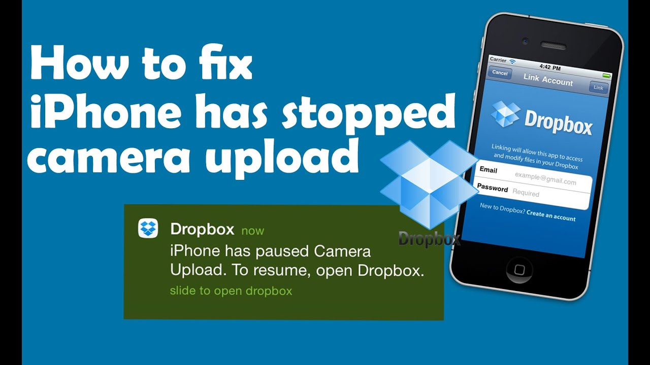 Fix iPhone has stopped camera upload Dropbox