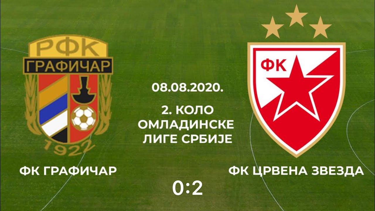 Omladinska liga Srbije: Grafičar - Crvena zvezda 0:2, ceo meč