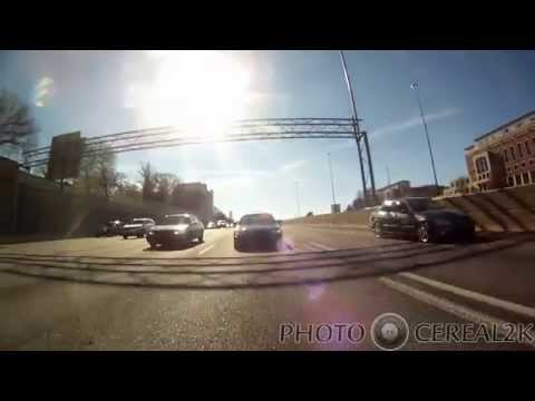 Moment of impact 2nd crash and passing first crash Atlanta,GA Paul Walker Cruise, Dec 7, 2014