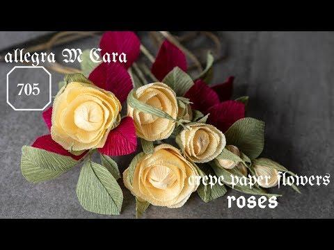 705 DIY Easy Roses Paper Flowers/ Pro Paper Craft Tutorial