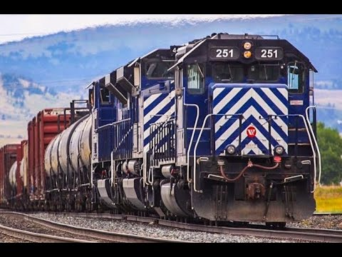 Montana Rail Link Freight Trains 1 Hour Compilation