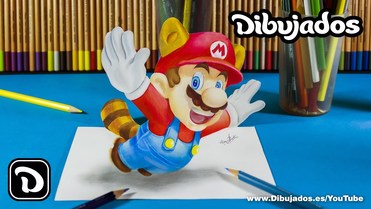 how to draw mario 3d