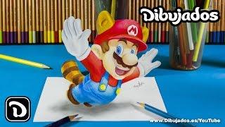 Como dibujar a mario bros - Dibujos 3D - Dibujados