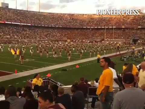 Halftime University of Minnesota Marching Band